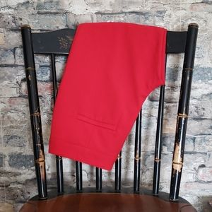 VINCE CAMUTO Straight Leg Red Career Pants 0